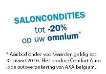 Autoverzekering Comfort auto AXA Belgium